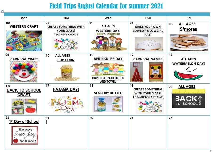 August Activity