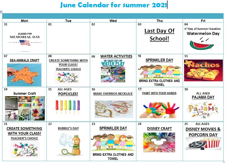 June Activity